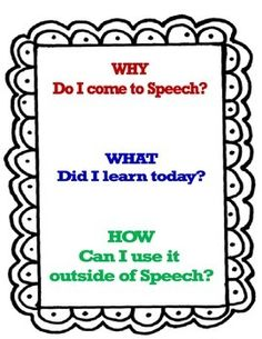 """SLP/Speech Pathology - Sticker """"stop"""" and reflection area. Classroom and learning accountability, classroom management"""