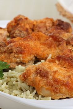 Oven Fried Southern Style Cinnamon Honey Chicken Recipe