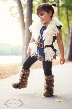 Cute DIY fur vest