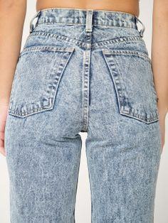Acid Wash High-Waist Jean. #AmericanApparel