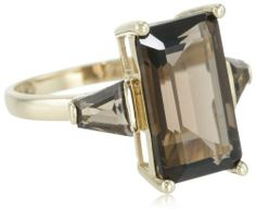 14k Yellow Gold Smoky-Quartz 3-Stone Ring, Size 7 Amazon Curated Collection. $190.00. Gemstones may have been treated to improve their appearance or durability and may require special care.. The natural properties and composition of mined gemstones define the unique beauty of each piece. The image may show slight differences to the actual stone in color and texture.. Save 67%!