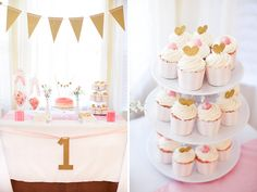 Pink & Gold First Birthday Party
