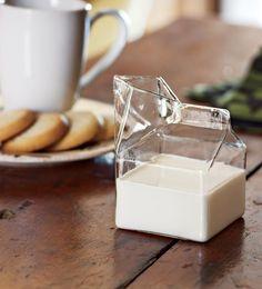 Glass milk carton. cool