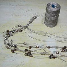 rock craft, knot pearl, multistr knot, jewelri idea, pearl necklaces, rock jewelri, beaded jewelry tutorial, treasur rock, knotted necklace tutorial