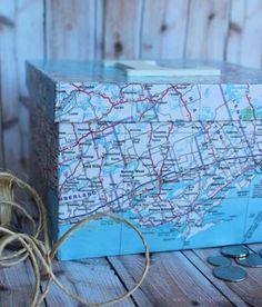 Mod Podge Map Box