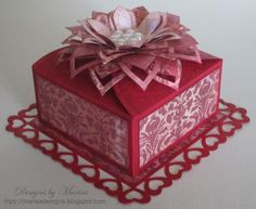 Valentine's Card in a box by Marisa Job - just beautiful