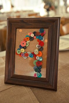 Button table numbers (photo by JoPhoto) #weddings