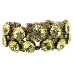 Check out this item at One Kings Lane! Austrian Canary Crystal Bracelet