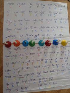 "Primary Singing Time Ideas Singing Magic: Memorizing ""He Sent His Son"" - Singing Time Bells"