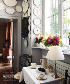 White plates collage