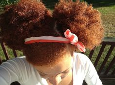 RED AFRO PUFFS