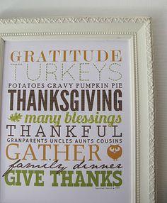 Thanksgiving Subway Art by yellow mums