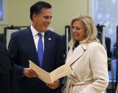 Mitt and Ann Romney vote Tuesday in Belmont, Mass.
