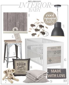 Baby interior inspiration! Cool industrial baby