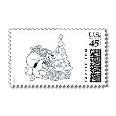 Scooby ChristmasPostage Stamps