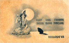 May this season bring you good fortune. #Halloween #vintage #fortune_teller #ephemera