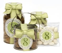 Initial with Your Text Favors or Gifts in Choice of Your Colors