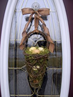 easter grapevine basket for door