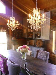 dining rooms, dine room, shabbi chic, room idea, décorat cuisin, design idea, beauti dine