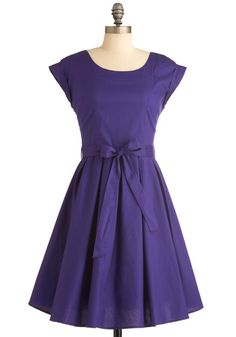 Such a pretty shade of purple, and adorable shape! Elegant Arrival dress from modcloth.com