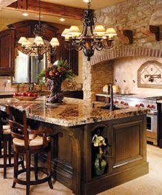 stone and granite kitchen