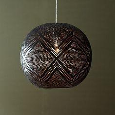 Perforated Globe Pendant - Diamond #WestElm