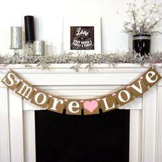 S'MORE LOVE Banner / Wedding Reception / Dessert by BannerCheer, $20.00