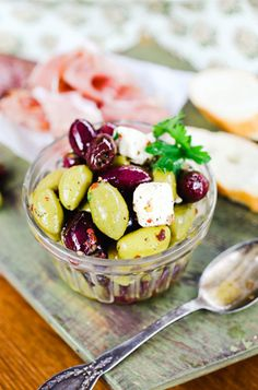 DIY Ultimate Holiday Appetizers - Lemon and Parsley Marinated Olives