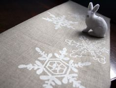 stencil snowflake table runner