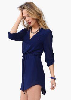 drawstr dress, tunic style, color, cobalt blue, tunic dress outfit