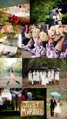 Embrace a rainy wedding day! (Weddings at Clark Gardens)