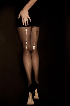 EXCLUSSIVE Hand Printed Tights  Charleston Gold on by galstern, $39.00