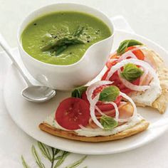 Refreshing Summer Soups: Asparagus Soup with Turkey and Tomato Tarts