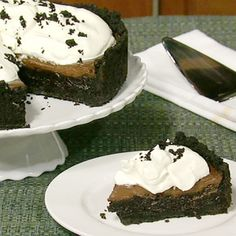 Carla's Mississippi Mud Pie, a chocolatey dessert that is simply decadent.