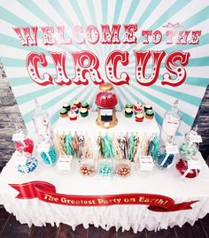 Circus Party Table #circus #party