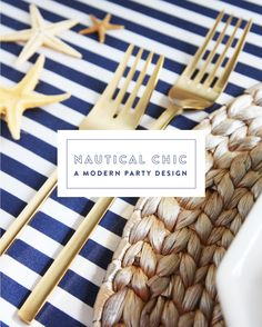 a nautical chic party