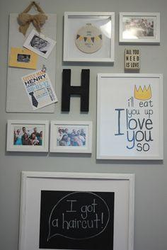 kids room: gallery wall