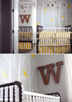 Google Image Result for http://www.ontobaby.com/wp-content/uploads/2012/02/yellow-gray-woodland-nursery-8.jpg