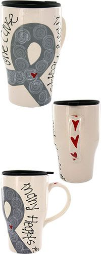 One Cause Many Hearts™ Diabetes Awareness Travel Mug at The Diabetes Site