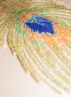 Peacock Feather Beaded by starflycreations on Etsy, $70.00