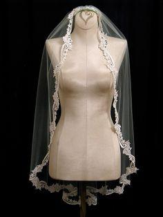 Vintage lace veil (but without the black stones)