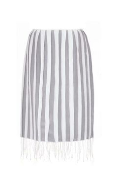 Angled-Hem Silk-Blend Piqué Skirt by Thom Browne Now Available on Moda Operandi