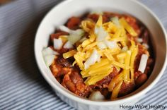 Honey We're Healthy: Turkey Chili (2TBS cumin; fresh tomatoes instead of canned; 1 can beans)