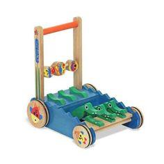 Amazon.com: Melissa & Doug Deluxe Chomp & Clack Alligator Push Toy: Toys & Games