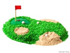 Your pint-sized putter will love this easy cake -- par none.