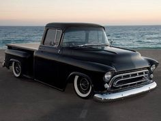 Black Low Chevy Truck