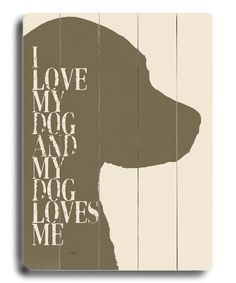 Take a look at the 'I Love My Dog' Wall Art on #zulily today!