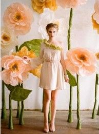 #DIY Giant #Flowers #wedding #birthday #shop #party http://www.duitang.com/people/mblog/24574192/detail/