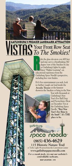 Space Needle gives you a view that cant be missed,.  #smokymountains #vacation #Gatlinburg
