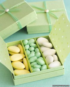 pretty packaging turns basic candy into a beautiful favor..